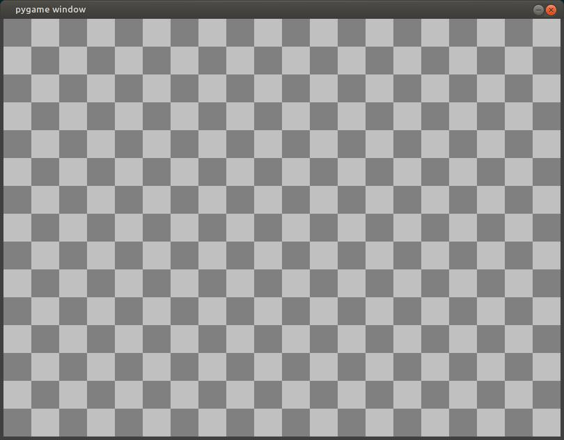 python pygame - draw background checkerboard